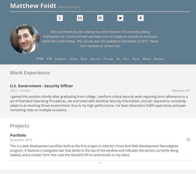Resume | Feidt